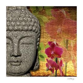 Calm & Relaxing Buddha & Orchids