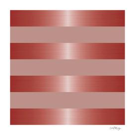 Rose Gold Metallic Stripes & Mauve