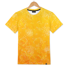 Orange glass pattern