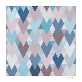 Mauve Blue Geometry II