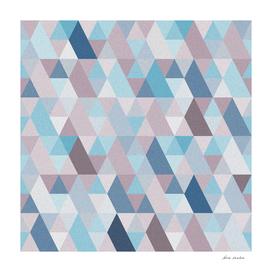 Mauve Blue Geometry IV