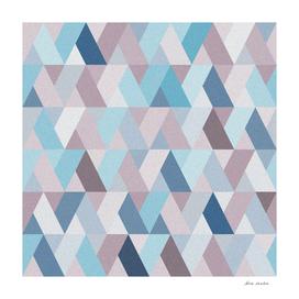 Mauve Blue Geometry V