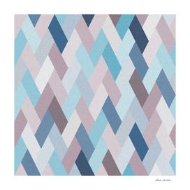 Mauve Blue Geometry VI