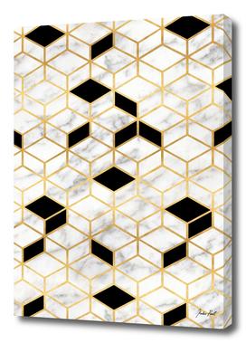 Midcentury Modern Marble Cubes