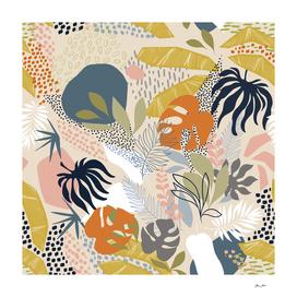 Tropical Foliage Pattern 1 - Retro Boho