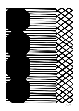 Graphic Design Geometric Patchwork Print