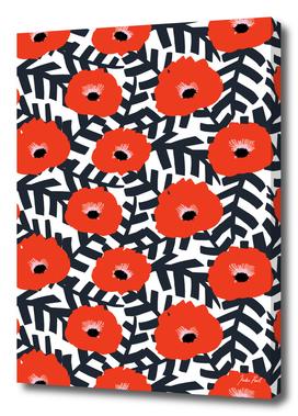 Summer Poppy Floral Print
