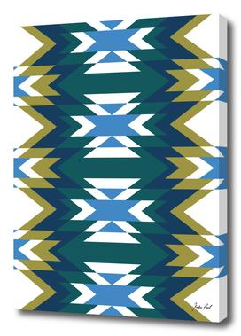 Patchwork geometric patchwork pattern