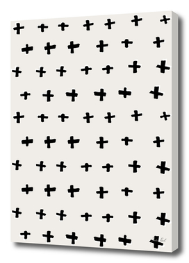 Black Plus Abstract Pattern