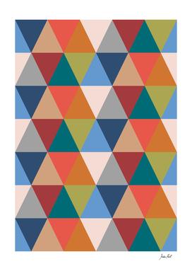 Retro, geometric triangle print