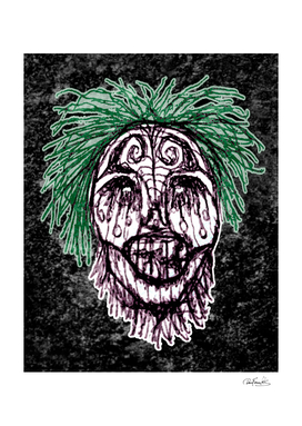 Creepy Zombie Head Illustration Artwork