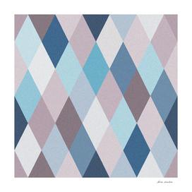 Mauve Blue Geometry VII