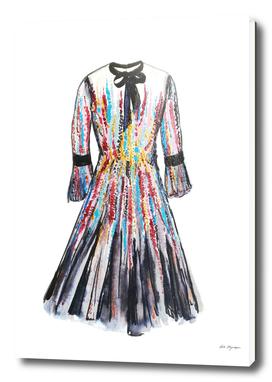 Fashion dress illustration