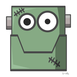 cartoon cute frankenstein halloween