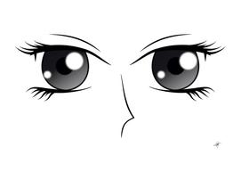 Eyes manga anime female cartoon