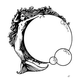 mermaid bubbles sexy cartoon sea
