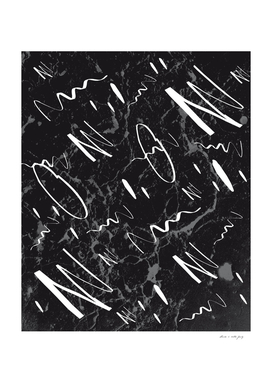 Gray Black Marble White Abstract Glam #1 #trendy #decor #art