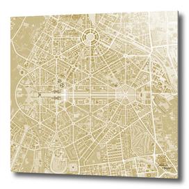 New Delhi map gold
