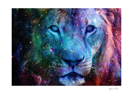Galaxy Lion Face