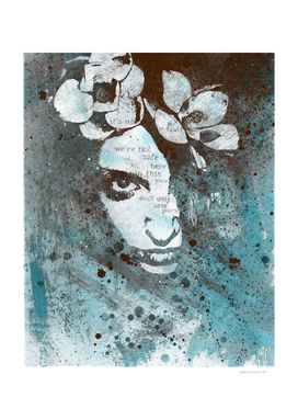 Blue Hypothermia (graffiti spray paint floral art)