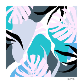 Tropical Abstract Organic Shapes Design
