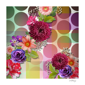 Flowers, Circles, & Colorful Abstract