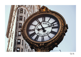 Fifth Avenue Building Clock in Flatiron District
