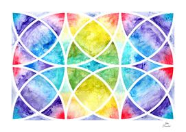Watercolor circular abstraction