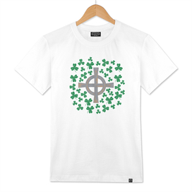 Celtic cross and Shamrock. St.Patrick's Day