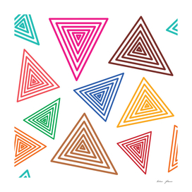 Cute retro abstract colorful triangle vector pattern