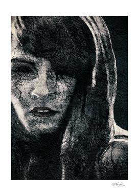 Creepy Artistic Woman Portrait