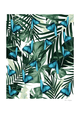 Tropical Butterfly Jungle Leaves Pattern #5 #tropical #decor