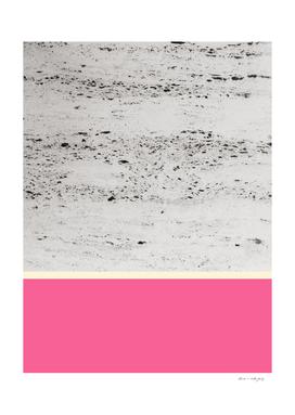 Pink Pale Yellow on Concrete #1 #decor #art