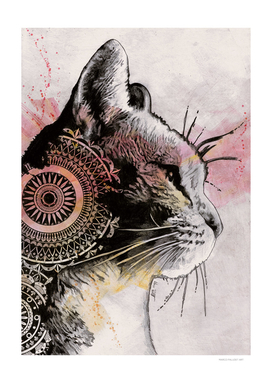 Tides Of Tomorrow (mandala tabby cat drawing)