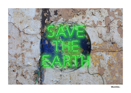 Save the Earth - Neon