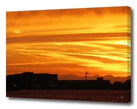 London burning sunset