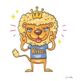 Animation lion animals king cool