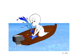 spirit boat funny comic graphic