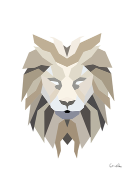 polygonal low poly lion feline