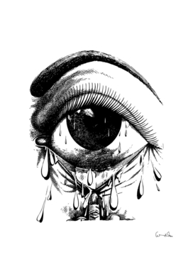 allergy art crying drawing eye
