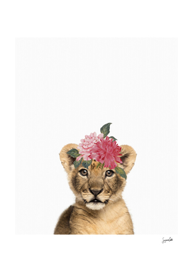 Lion Cub with floral crown