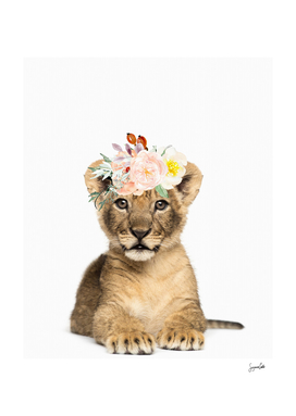Mala the Lion cub with her watercolor crown