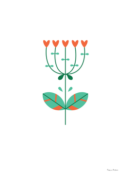 Flat flower in a Scandinavian style