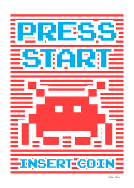 Press Start, Insert Coin, Playing With Stripes series,