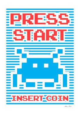 Press Start, Insert Coin, blue version