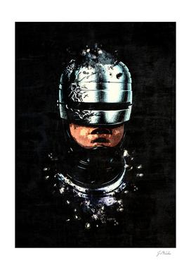 Robocop splatter painting