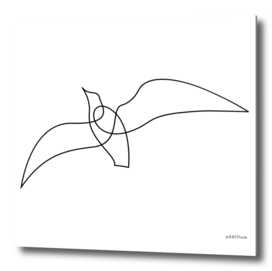 ease - one line art