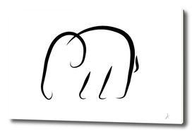 Minimalistic elephant