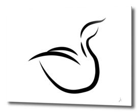 Minimalistic swan