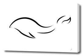 Minimalistic whale